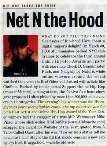 Hip-Hop Takes the Prize: Net N the Hood | Entertainment Weekly