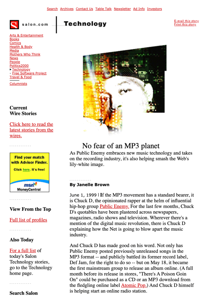 No Fear of an MP3 Planet